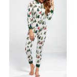 Christmas Tree Print Footed Pajamas
