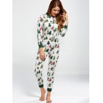 Christmas Tree Print Footed Pajamas for sale