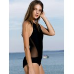 High Neck See-Through One-Piece Swimwear for sale