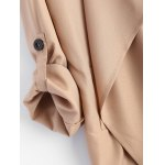 best Pointed Hem Plus Size Trench Coat