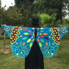 Outdoor Ethnic Colorful Butterfly Wing Scarf