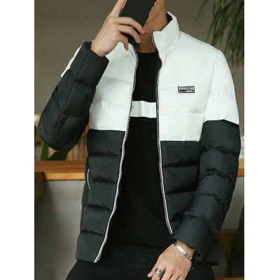 Zip Up Two Tone Padded Jacket