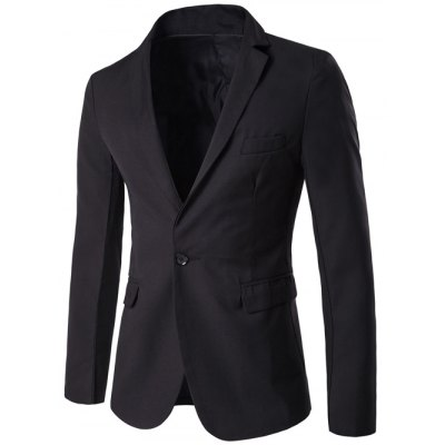 Lapel Simple One Button Blazer