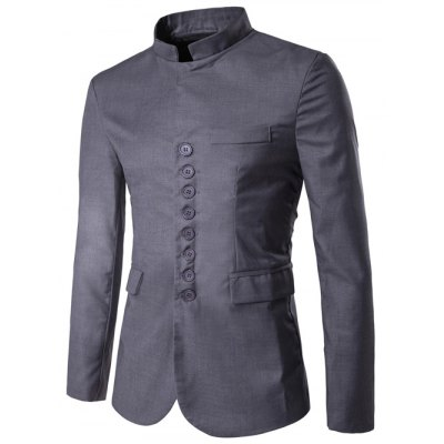 Stand Collar Single Breasted Simple Blazer