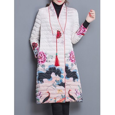 Down Jacket With Chinese Painting