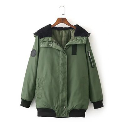 Hooded Long Thick Field Jacket