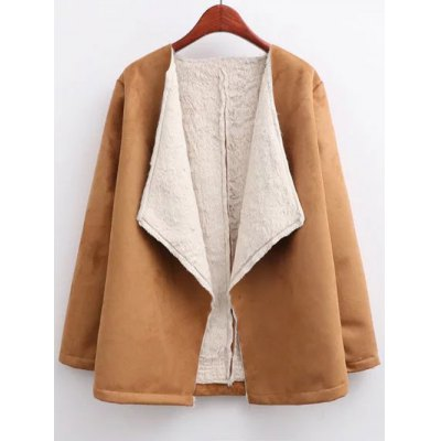 Open Front Shearling Coat