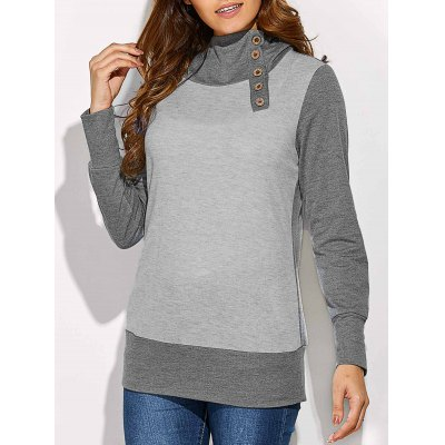 Button Embellished Hoodie
