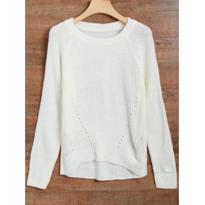 Distressed Asymmetrical Chunky Sweater