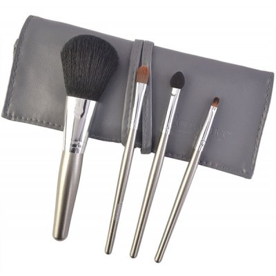 4 Pcs Fiber Makeup Brushes Kit