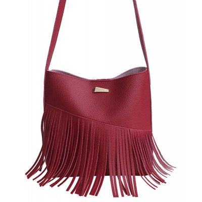 Fringe PU Leather Crossbody Bag