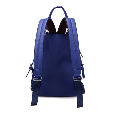 Zippers Double Buckle Splicing BackpackWomens Bags<br>Zippers Double Buckle Splicing Backpack<br><br>Handbag Type: Backpack<br>Style: Casual<br>Gender: For Women<br>Pattern Type: Solid<br>Handbag Size: Medium(30-50cm)<br>Closure Type: Zipper<br>Interior: Cell Phone Pocket<br>Occasion: Versatile<br>Main Material: Nylon<br>Hardness: Soft<br>Weight: 1.200kg<br>Size(CM)(L*W*H): 27*14*38<br>Strap Length: Short:8CM, Long:60-90CM (Adjustable)<br>Package Contents: 1 x Backpack