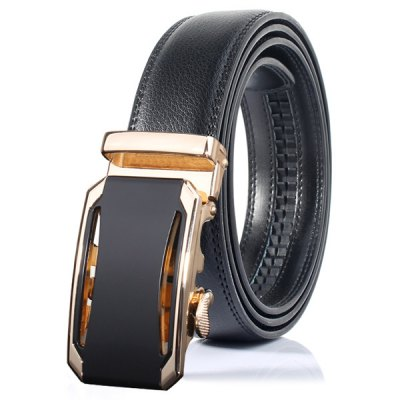 Stylish Faux Leather Automatic Buckle Wide Belt