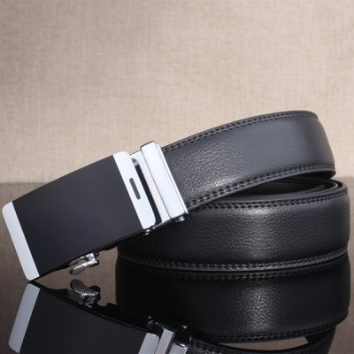 Stylish Smooth Surface Automatic Buckle Wide Belt
