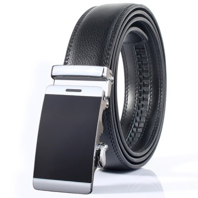 Stylish Smooth Surface Automatic Buckle Wide Formal Belt