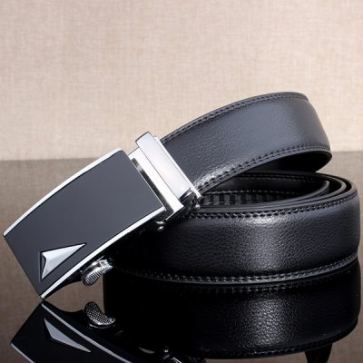 Stylish 3D Triangle Automatic Buckle Wide Belt