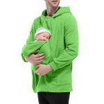cheap Double Zippers Detachable Pocket Baby Carrier Hoodie