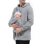 Double Zippers Detachable Pocket Baby Carrier Hoodie for sale