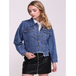 Frayed Hem Denim Jacket deal