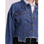 Frayed Hem Denim Jacket photo