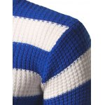 Turtleneck Striped Texture Sweater for sale
