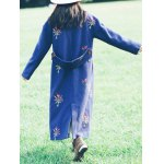 best Flower Embroidery Long Coat