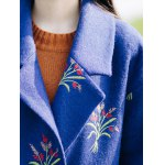 Flower Embroidery Long Coat photo