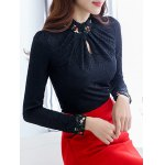 Fleece Floral Paneled Lace Blouse deal