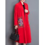 cheap Embroidery Duster Long Coat
