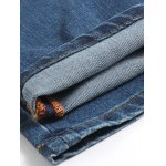 best Tapered Fit Striped Waist Distressed Jeans