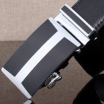 Simple H Shape Automatic Buckle Wide Belt deal