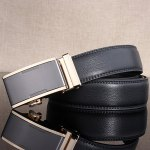 cheap Simple Embellished Alloy Automatic Buckle Wide Belt