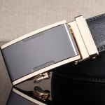 Simple Embellished Alloy Automatic Buckle Wide Belt for sale