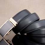 Simple Embellished Alloy Automatic Buckle Wide Belt deal