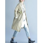 Butterfly Embroidery Trench Coat deal