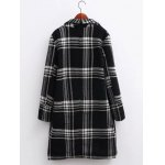 cheap Oversized Plaid Long Wool Coat