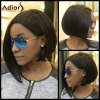 Short Straight Side Parting Capless Synthetic Wig