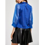 Pussy Bow Organza Insert Blouse deal