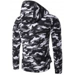 cheap Hooded Camouflage Multi Pockets Jacket
