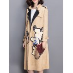 Sueded Patched Patterned Trench Coat deal