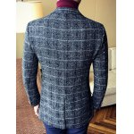 Vintage Lapel Single Breasted Selvage Plaid Coat deal
