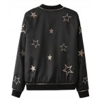 Slim Star Embroidered Convertible Bomber Jacket deal