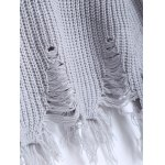 Distressed Fringed Chunky Sweater photo
