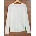 cheap Distressed Asymmetrical Chunky Sweater