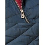 Zip Pocket Stand Collar Padded Jacket deal