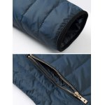 Zip Pocket Stand Collar Padded Jacket for sale