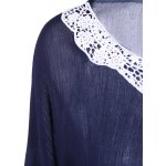 Bell Sleeve Lace Insert Blouse deal