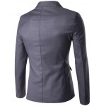 cheap Stand Collar Single Breasted Simple Blazer