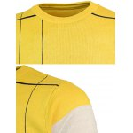 Crew Neck Color Block Pullover Knitwear for sale