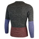 Crew Neck Color Block Pullover Heather Sweater deal